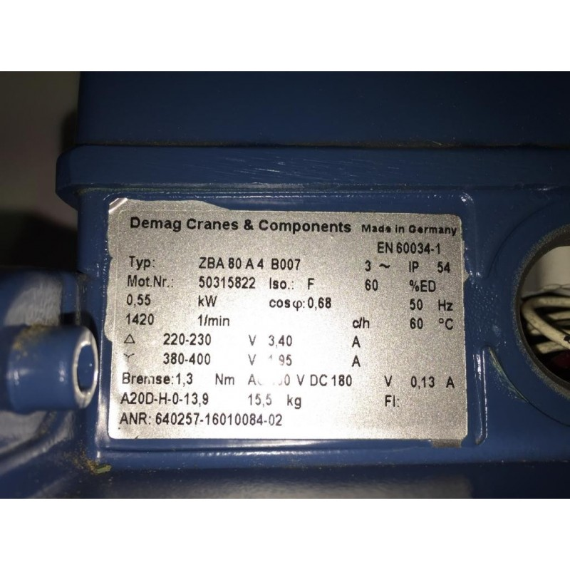 Motor Zba 80 A4 B007 Gloning Krantechnik Gmbh